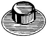 100 Washer Cap Type Pushnut Fasteners 3/8'' Stud Diameter