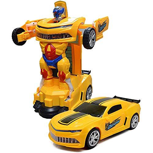 TOYSERY 변형 로봇 자동차 버튼 하나로 변형 어린이 장난감-아이동 로봇을 장난감으로 화려한 조명이-나이 3 년 이상