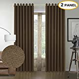 50 rice lights - Artdix Solid Rice Grain Faux Linen Grommet Top Curtains Thermal Curtains Window Drapes For Bedroom Living Room, 50