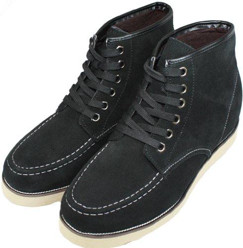 Calden-k228063-7,6cm Grande Taille-Hauteur Augmenter Ascenseur shoes-nubuck Noir à Lacets