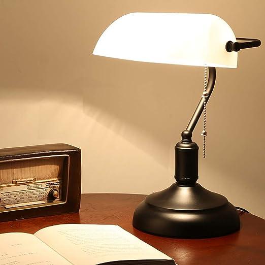 Lámpara De Noche Banquero Retro, Lámpara De Escritorio Estilo ...