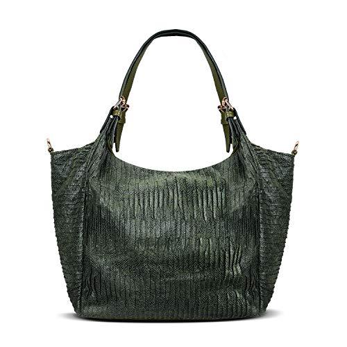 KISS GOLD(TM) Leisure Canvas Tote Shoulder HandBag for Women Crossbody Bag for Women (Dark Green)