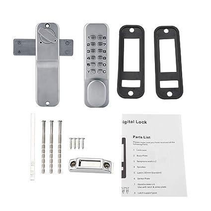 Garosa Cerradura de Puerta de Entrada Sin Llave Cerradura de Código Digital Mecánica Teclado de Combinación