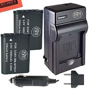 BM Premium 2-Pack of NP-BX1 NP-BX1/M8 Batteries & Charger for Sony CyberShot DSC-RX100 V, DSC-HX80, HDR-AS50, DSC-RX1, DSC-RX1R, DSC-RX1R II, DSC-RX100, DSC-RX100M II, DSC-RX100 III, DSC-RX100 IV, DSC-H300, DSC-H400, DSC-HX300, DSC-HX50V, DSC-HX60V, DSC-HX80V, DSC-HX90V, DSC-WX300, DSC-WX350, HDR-AS10, HDR-AS15, HDR-AS30V, HDR-AS100V, HDR-AS100VR, HDR-AS200V, HDR-AS200VR, HDR-CX240, HDR-CX405, HDR-CX440, HDR-PJ275, HDR-PJ440, HDR-MV1, FDR-X1000V, FDR-X1000VR Digital Camera