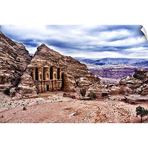 CANVAS ON DEMAND Wall Peel Wall Art Print Entitled Ad Deir, Monastery of Petra, Jordan ()
