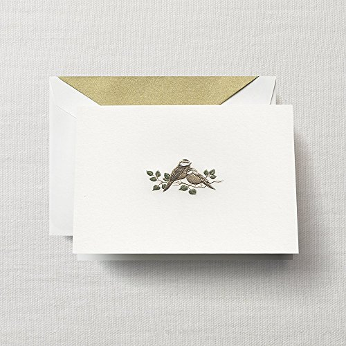 Crane & Co. Hand Engraved Love Bird Note- Pack of 20 Cards ()