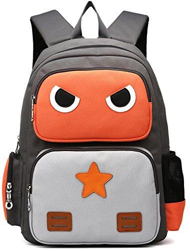 ArcEnCiel Kid's Backpack (Orange and Grey)