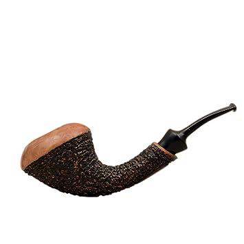 Amazon com: Hornet Briar Bent Sandblasted Smoking Pipe from