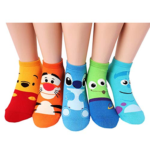 EVEI Animation Character Cartoon Series Collection Women's Original Socks (D13_5 pairs)
