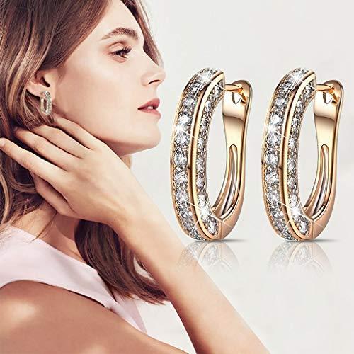 Earrings for Women Bohemian Simple Large Half Ring Earrings Women\'s Jewelry Gift For Party Decoratio (B)