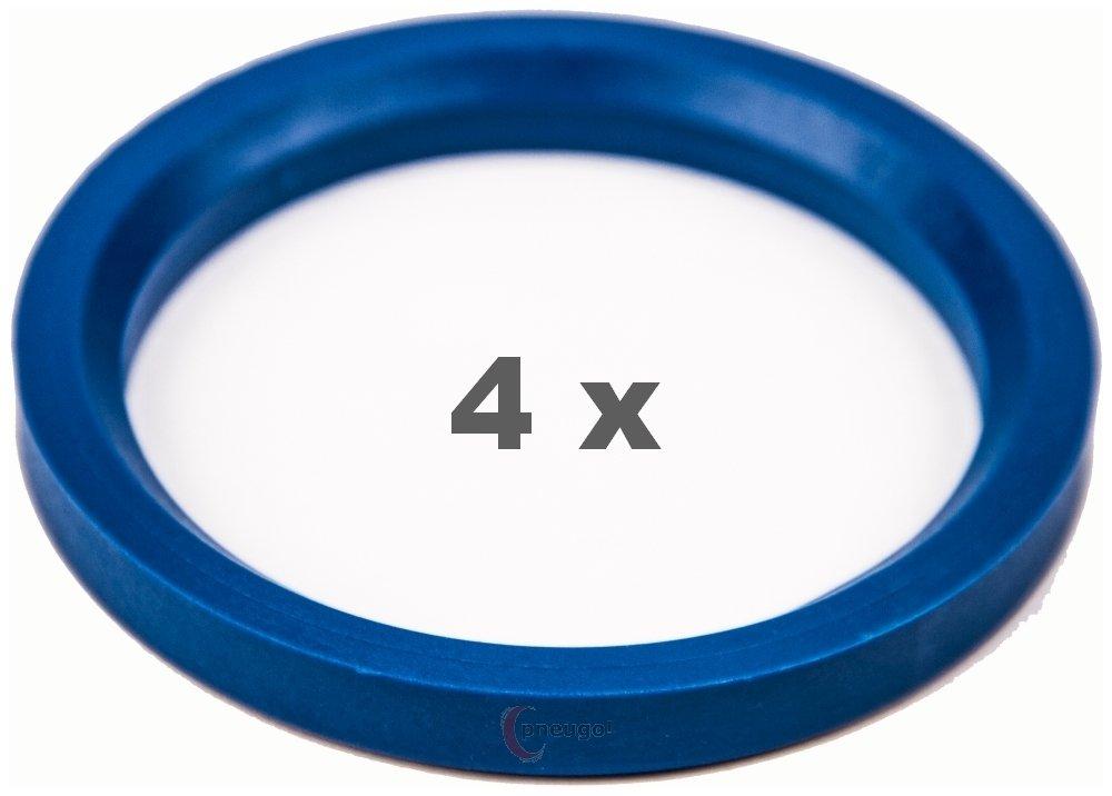 4 X Anello Di Centraggio 72.0 su 57.1 Blu/Blue Pneugo