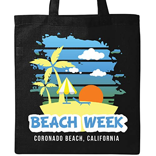(Inktastic - Beach Week Coronado Beach California with Palm Tote Bag Black 35cc4)