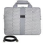 VanGoddy Modern White Messenger Bag for Acer TravelMate Series / ChromeBook Series / 14