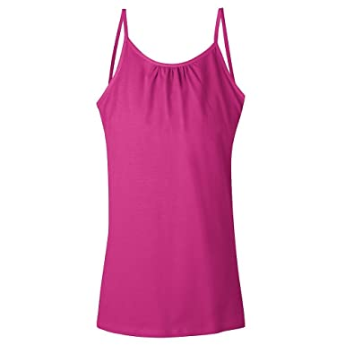 Amazon.com: Hanes Girls` Cami with Shelf Bra: Clothing