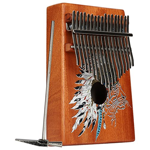 VI VICTORY 17 Key 3D Painted Kalimba African Thumb Piano Finger Percussion Keyboard Music Instruments - Wolf