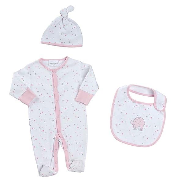 BABY TOWN - Pelele para dormir - para bebé niña rosa Estrellas De Color Rosa XXXXXS: Amazon.es: Ropa y accesorios