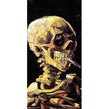 7bdcc180c8f Vincent Van Gogh Skull Cigarette Decorative Fine Art Print (Unframed 12x24  Poster)