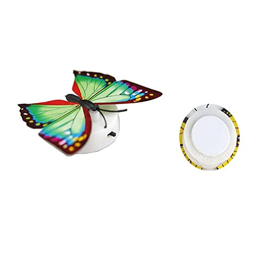 Lights & Lighting Colorful Changing Butterfly Led Night Light Lamp Home Room Party Desk Wall Decor Night Light Bedroom Light Gift Romantic High Resilience Led Lamps