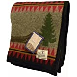 Old Hickory Midnight Wool Throw Blanket by Pendleton