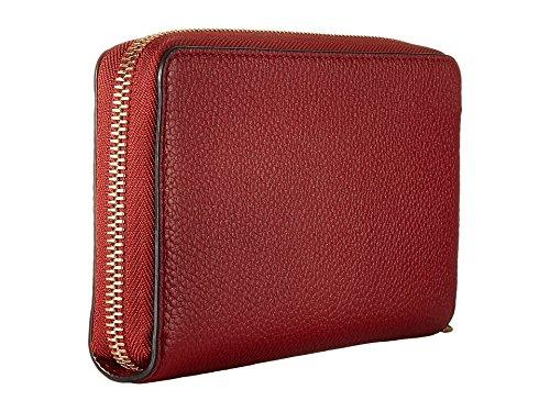 MICHAEL Michael Kors KORS STUDIO Large Flat Phone Case Wristlet Burnt Red