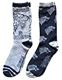Hyp Game of Thrones Stark Men's Crew Socks 2 Pair Pack Shoe Size 6-12