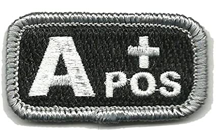 Tactical Blood Type Patches - Type A Positive - 2x1 (Black & White) Gadsden and Culpeper p-96-9TCX-55QG