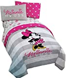 Disney MINNIE MOUSE 4pc PiNk & GrAy Reversible TWIN Comforter and Sheet Set