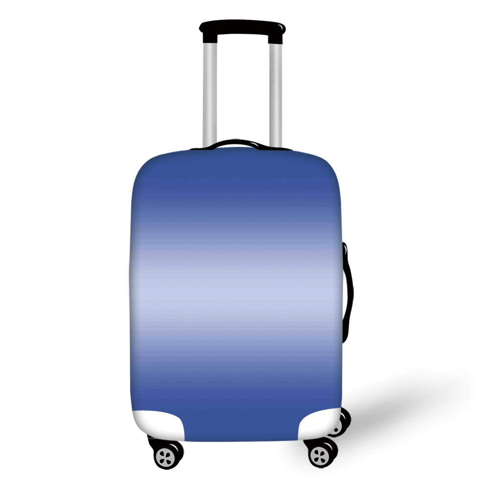 Travel Luggage Cover Suitcase Protector,Ombre,Evening Sky After the Sun Sets Inspired Dark Blue Color Modern Design Room Decorations,Navy Blue,for Travel