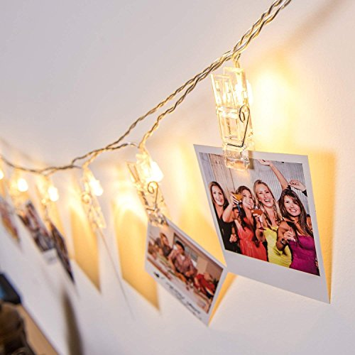 Photo Clips String Lights,Reabeam,Twinkle Light,Wedding Anniversary Party,Home,Bar, Coffee Shop,Christmas Halloween Decor Lights,Battery Powered for Hanging Pictures,Notes,Memos,Artwork ()