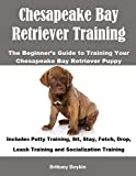 Chesapeake Bay Retriever Training: The Beginner's Guide to Training Your Chesapeake Bay Retriever Puppy: Includes Potty Training, Sit, Stay, Fetch, Drop, Leash Training and Socialization Training