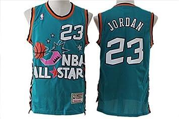best service 19cbf 654a0 All Star 23 Michael Jordan Green Hardwood Classics Swingman ...