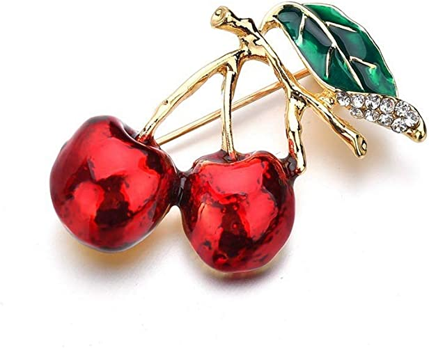 SKZKK Fashion Glaze Smalto Spilla Red Cherry Spilla Pins