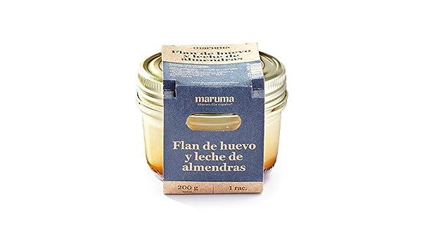 Cocina Maruma - Flan de huevo y leche de almendras, 200 g: Amazon.es: Alimentación y bebidas