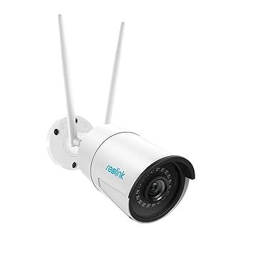 Reolink Cámara IP WiFi 1440p HD, Cámara de Seguridad WiFi 2.4 / 5GHz para Exteriores con Audio, Visión Nocturna por Infrarrojos, Ranura para Tarjeta ...
