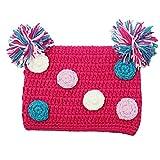 Dress Up Dreams Boutique Little Girls Hot Pink Pom Pom Crochet Hat 2-4 Years