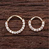 Leoie Piercing Hoop Earring Small Hoop Nose Septum Ring Piercing Silver Ear Bone Ring Stylish For Women Gift