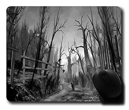 Creepy Forest Large Gaming Mouse Pad: Amazon co uk: Clothing