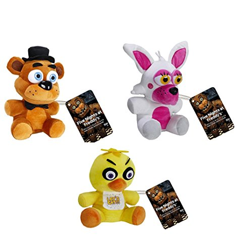 "Set of 3: 6""Funko Five Nights at Freddy's - Freddy, Funtime Foxy, Chica"