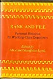Rank and File, Alice Lynd and Staughton Lynd, 0807005088