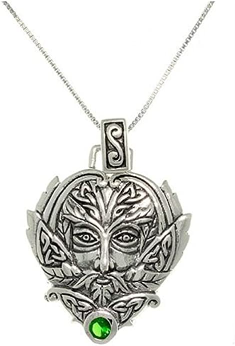 Green Man .925 Sterling Silver Pendant Peter Stone