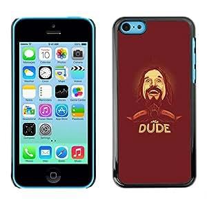 Caucho caso de Shell duro de la cubierta de accesorios de protección BY RAYDREAMMM - Apple iPhone 5C - Dude Beard Hipster Man Portrait Drawing