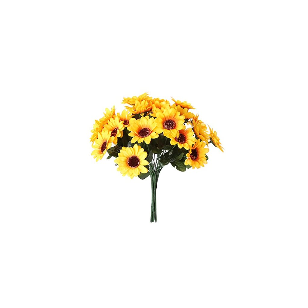 NDakter-Artificial-Sunflowers-4-Bundles-Artificial-Flowers-Silk-Sunflowers-Plastic-Plants-Indoor-Outdoor-Home-Kitchen-Office-Christmas-Wedding-Party-Decoration