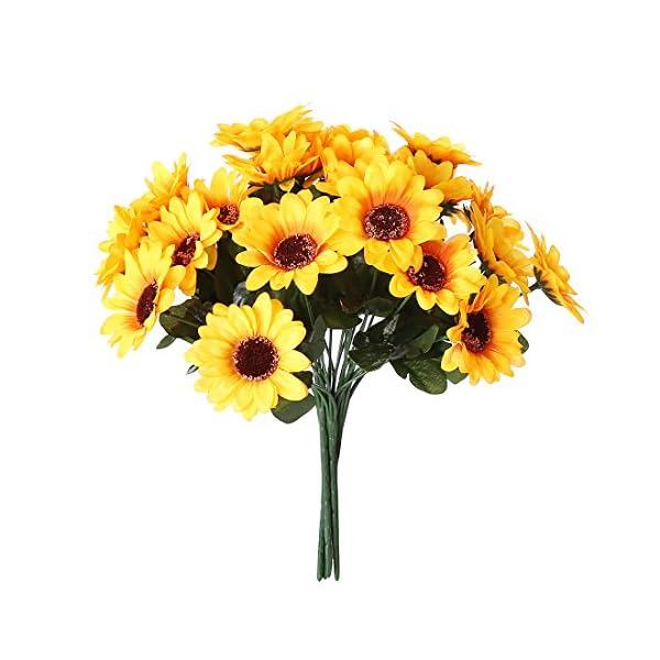 NDakter-Artificial-Sunflowers-4-Bundles-Artificial-Flowers-Silk-Sunflowers-Plastic-Plants-Indoor-Outdoor-Home-Kitchen-Office-Christmas-Wedding-Party-Decoration