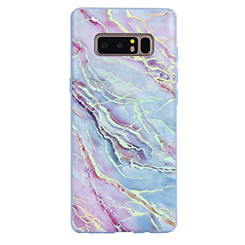 Velvet Caviar for Samsung Galaxy Note 8 Case Marble for Women Girls - Cute Protective Phone Cases [Drop Test Certified Cover] (Holographic Pink Blue)