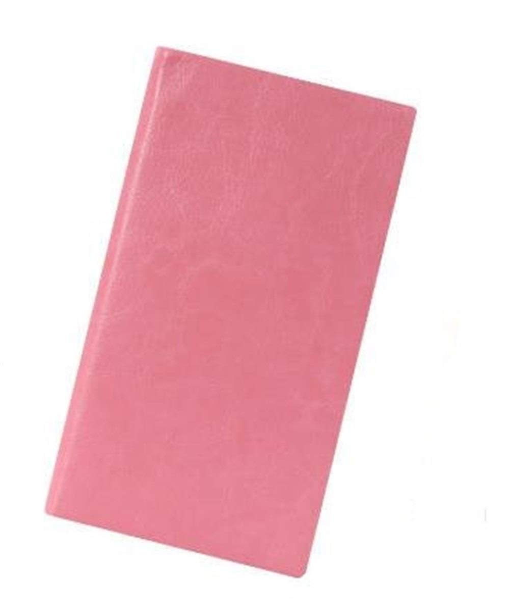 Love lamp Steno Notebooks A6/A7 Soft Cover PU Leather Notebook Writing Diary Book School Stationery Students Gift Wirebound Notebooks (Color : Pink, Size : A6) by Love lamp