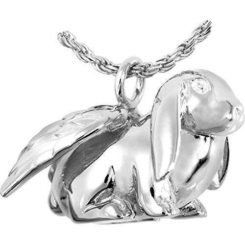 Memorial Gallery MG3102s Bunny Lop Sterling Silver Cremation Pet Jewelry by Memorial Gallery