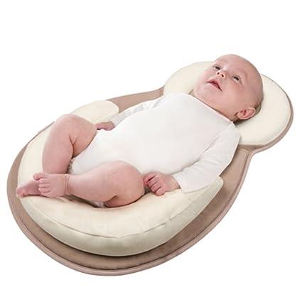KMMall saco de dormir de algodón orgánico almohada protección bebé Pad con enfermería almohadas, Infant