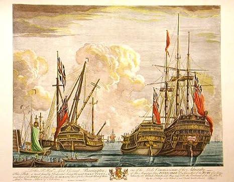 Impresión D Arte - Barco Inglés, 1710 - cm 60 x 80 - Cartas ...