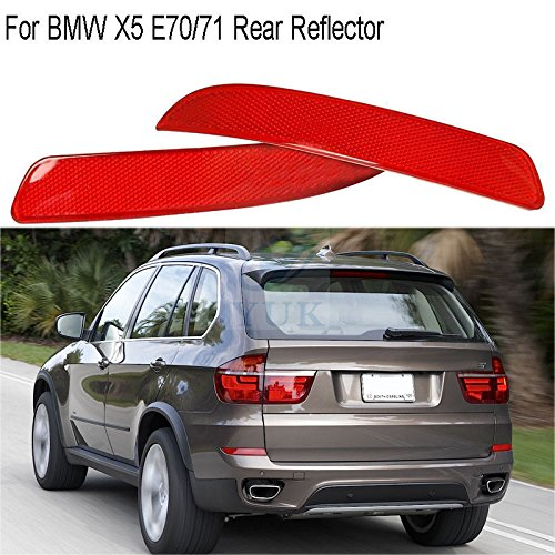 YUK Rear R+L Bumper Cover Lens Lamp Reflector Housing Tail Warning Light for BMW X5 E70/71 -