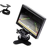 HD Night Vision Waterproof Car Rear View Camera Backup Camera+7 Inch Color TFT-LCD Display Car Parking Mirror Car Rear View Monitor